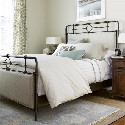 The Dogwood Upholstered Metal Bed by Universal Furniture at Pine Tree Barn