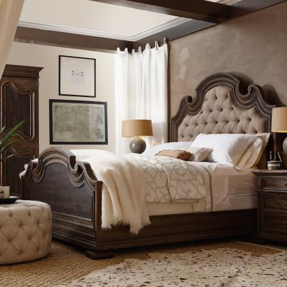 Fair Oaks King Upholstered Bed by Hooker Furniture at Pine Tree Barn
