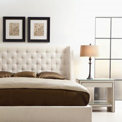 Maxime Upholstered Wing Bed by Bernhardt Furniture at Pine Tree Barn
