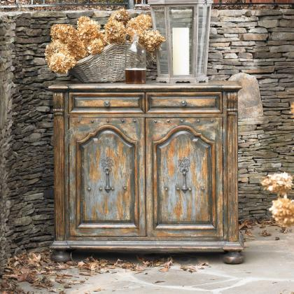 Hooker Furniture Two-Door Vintage Chest w/ Bun Feet at Pine Tree Barn
