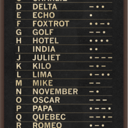 International Morse Code art print from Wendover, available at Pine Tree Barn