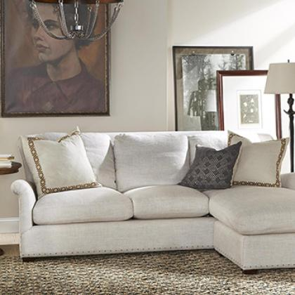 Contact Pine Tree Barn to place an order on the Haven Sofa Chaise with Ottoman