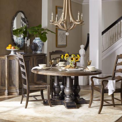 """Applewhite 60"""" Round Dining Table by Hooker Furniture at Pine Tree Barn"""
