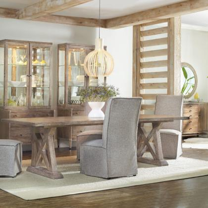 Geo Trestle Dining Table by Hooker Furniture at Pine Tree Barn