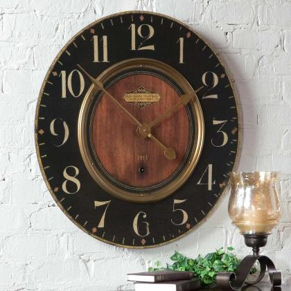"""Alexandre Martinot 30"""" Clock from Uttermost, available at Pine Tree Barn"""