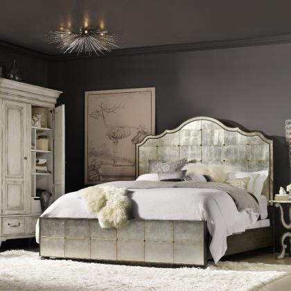 Arabella King Mirrored Panel Bed from Hooker Furniture at Pine Tree Barn