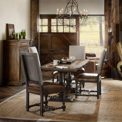 Hooker Furniture Balcones 60 in. Friendship Table w/ Two 12 inch Leaves from Pine Tree Barn